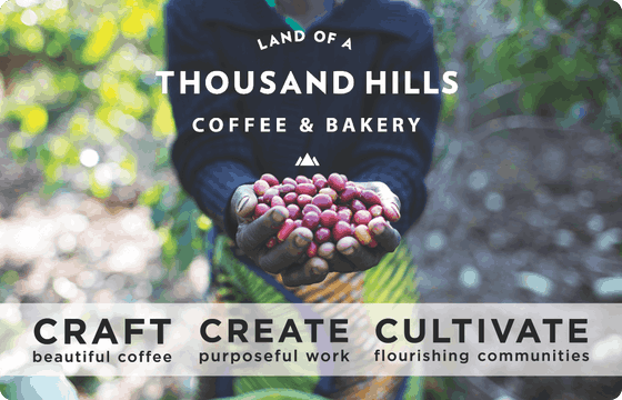 A Land of a Thousand Hills Gift Card is the perfect gift for any coffee lover